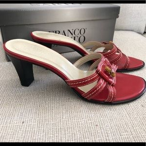 VINTAGE - Franco Sarto Red Dynasty Leather Sandals